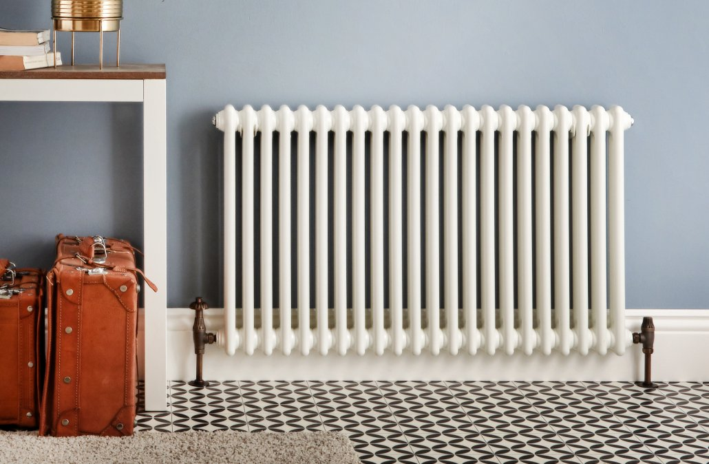 The White Milano Windsor Column Radiator